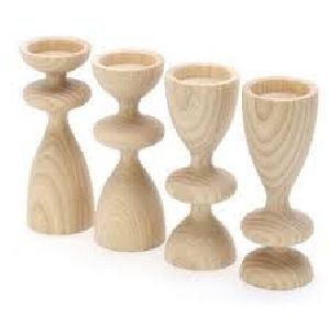 Carved Wooden Candle Holders 05