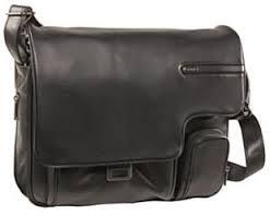 Black Messenger Leather Bag