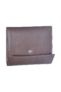 Brown Leather Ladies Wallet