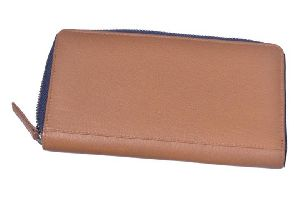 Cream Leather Ladies Wallet