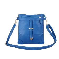 Crossbody Blue Leather Bag