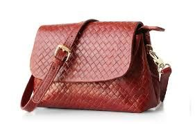 Leather Weave Side Bag