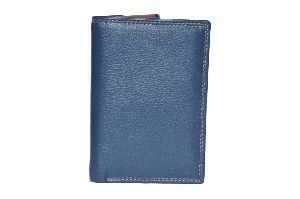 Royal Blue Mens Leather Wallet