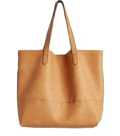 Tan Brown Leather Duffle Bag