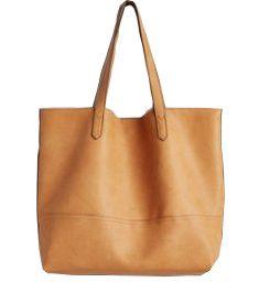 Tan Brown Leather Duffle Bag