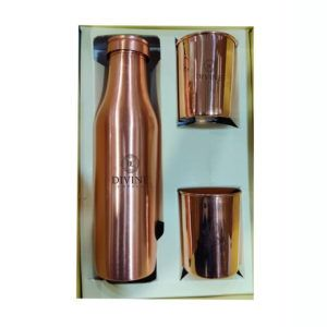 BMC Copper Water Bottle with 2 Glass