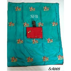 Aqua Green Silk Saree