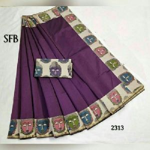 Fancy Chanderi Border Saree