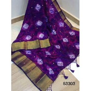 Fancy Shibori Saree