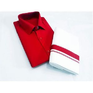 Mens Cotton Shirt Dhoti Set
