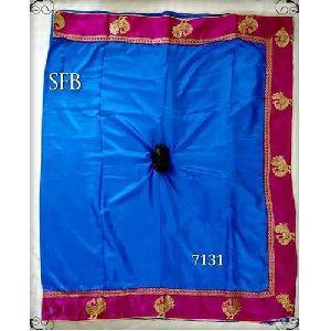 Pink Border Silk Saree
