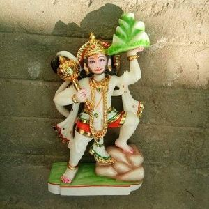 Marble Multicolor Hanuman Statue