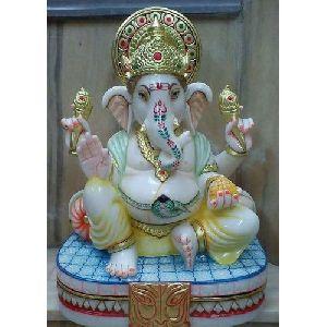 Polished Marble Ganesha Statue