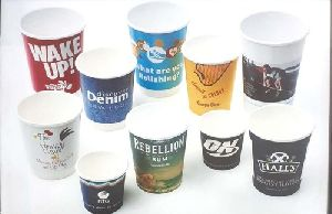 Disposable Printed Paper Glass