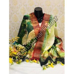 Digital Printed Linen Dupatta
