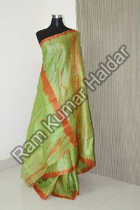 Dyed Tussar Silk Saree