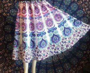 Cotton Printed Skirt