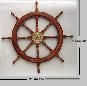 36 inch Wooden Ship Wheel