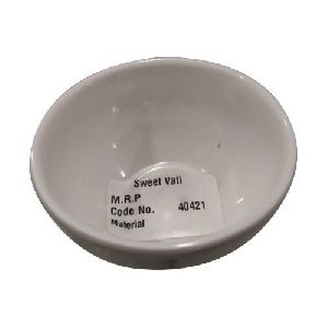 White Melamine Serving Bowl