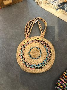 Multi Chindi Braided Bag