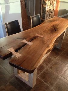 Live Edge Dining Table Set