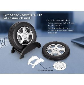 Tyre Shape Coaster Set