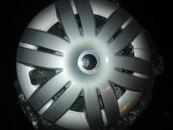 Silver Plastic Wheel Cover