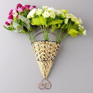Cane Wall Hanging Flower Vase