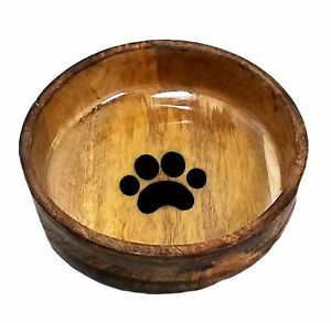 28 Wooden Dog Bowl