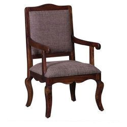 Wooden Polished Wood Arm Chair