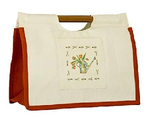 Wooden Handle Shopping Bags