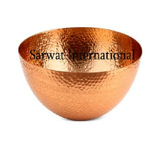 Copper Hammered Bowl