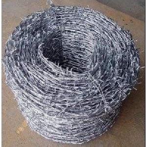 Silver Barbed Wire