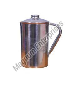Steel Copper Embossed Jug