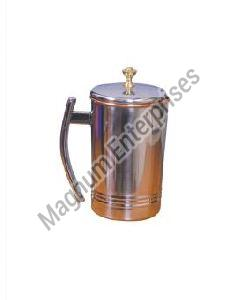 Steel Copper Platinum Jug