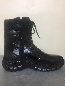 Mens Zipper Leather Boots
