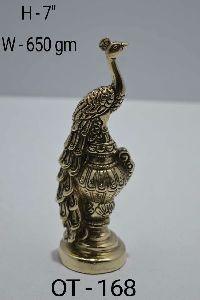 Brass Peacock Statue