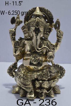 GA-236 Brass Ganesh Statue