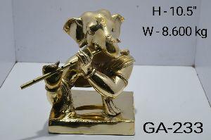 GA-233 Brass Ganesh Statue