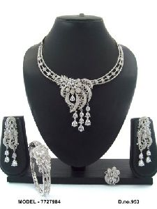 American Diamond Jewellery Combo Set