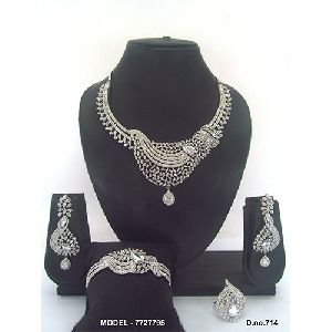 Anniversary American Diamond Jewellery Set