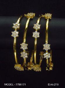 Brass American Diamond Bangles