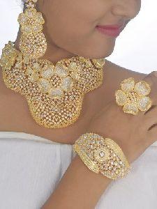 Bridal American Diamond Jewellery Set