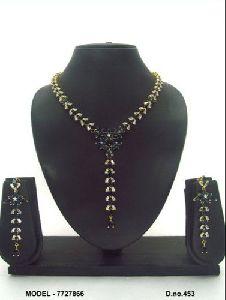Cubic Zirconia American Diamond Necklace Set