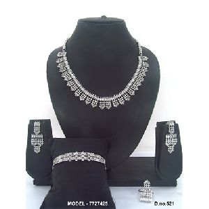 Daily Wear American Diamond Jewellery Set