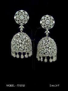 Designer Diamond Jhumka
