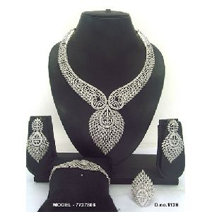 Engagement Party American Diamond Jewellery Set