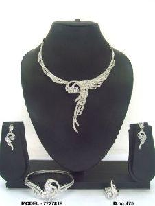 Exclusive American Diamond Jewellery Set