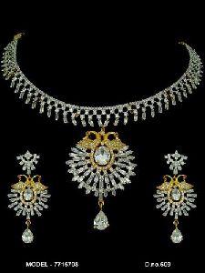 Fancy Diamond Jewellery Set