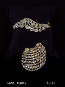 Fashionage American Diamond Earrings